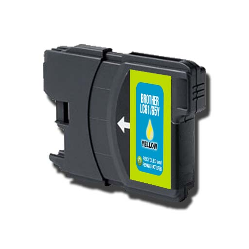 INKFLIP BROTHER LC61/65Y HIGH YIELD YELLOW INK CARTRIDGE